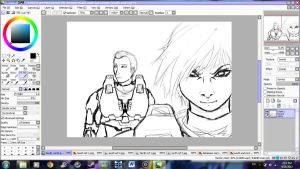 Rough sketch of North and South-RVB by ReveLeViFleur