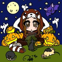 Me and my Rats on Halloween by Pandarat
