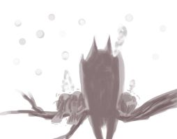 Doodle : Daddy bat and Baby birds by namielric