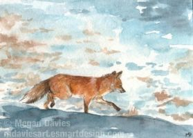 Foxy Stroll ACEO by Pannya