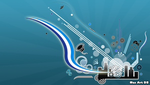 Blue Vector Wallpaper PSP by Nao-Chan-91