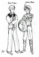 Captain Alfred and Steve Jones by Kurofer-Aldred