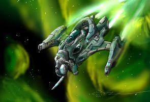 Gallente Corvette Hydra by novafox