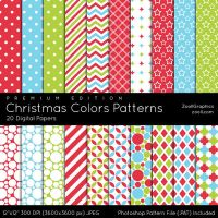Christmas Colors Patterns - Premium Edition by MysticEmma