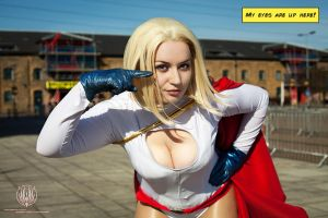 My Eyes Are Up Here - Power Girl Cosplay by faramon