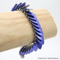 Purple Dragon Scale Bracelet by Utopia-Armoury