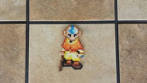 Aang - AtLA Perler Bead Sprite by MaddogsCreations