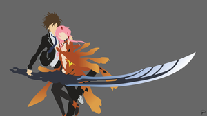 Guilty Crown Minimalist Wallpaper by greenmapple17