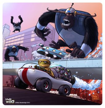 Gorilla Attack by Petewoo