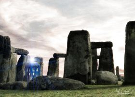 Tardis in the Overhenge 1 by Topaz172