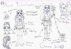 The milkyway's - Ami reference sheet by miyuu1chan