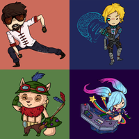 LoL Chibi Set 2 by Aeroleo
