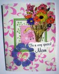 Special Mom Greeting Card-Girl with Flowers by Dreamerzina