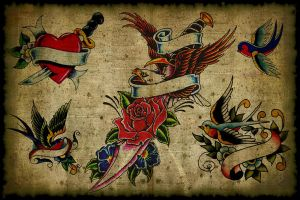 Vintage Tattoo Flash by psycho1210
