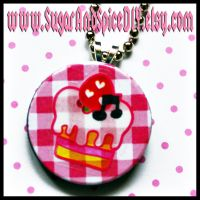 Strawberry Shortcake Charm by SugarAndSpiceDIY