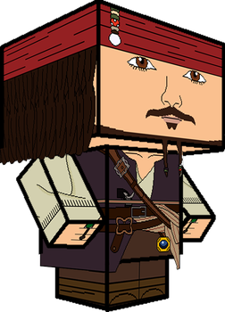 Capitan Jack Sparrow 3D by zienaxd