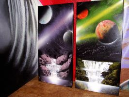 Space spraypaintings by Zozach