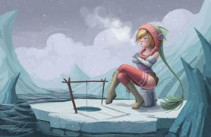 Fishgirl - Ice Fishing by SnakeToast
