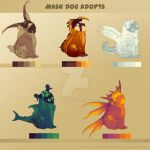 [Species Adopt] - Mask Dog Adopts 2# (5/5) -OPEN- by TaimaTala