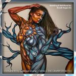 Sun and Moon Inspired themed bodypaint by thebryancrump