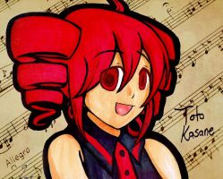 Kasane Teto by chocogingerfingers