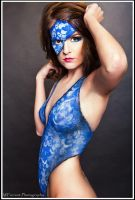 lace mask blue by justtoocute