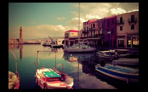 Rethymno Port by liosang3l