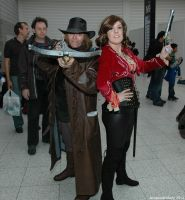 Van Helsing and Anna Valerious by ArcaneArchery