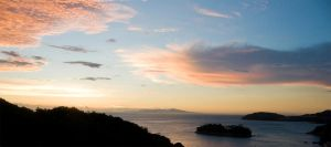 Sunset over Seto inland sea by IainInJapan