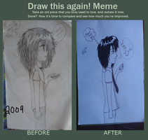 before and after by mewnekochibi