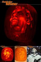 Martin Luther Pumpkin by TheDaneOf5683