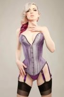 purple corset by MissCarissaWhite