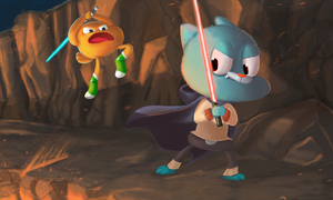 Gumball and Darwin / Star Wars by BStiven