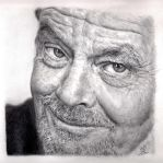 Pencil Portrait of Jack Nicolson by chaseroflight
