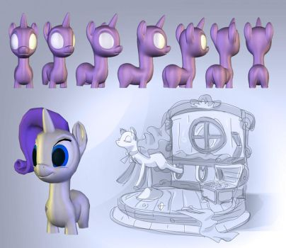 My Little Pony 3D WIP by TimothyB