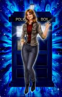 Commission: Clara Oswald from Doctor Who by johnbecaro