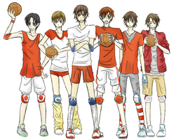 Dodgeball - Red uke team by ASAMESHII