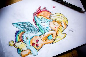 Request: Appledash by sunset-haste