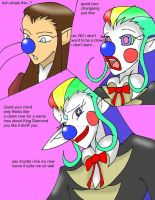 Oron being turned into a clown King Diamond by CathyMouse2010
