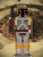 8bit Boba Fett by DavidtheDestroyer
