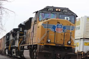 Union Pacific SD70M 4951 by bagera3005