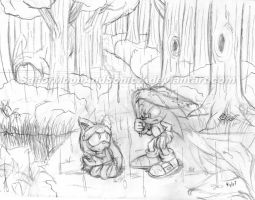 Conceptual Drawing: The Meeting by SailorMoonAndSonicX