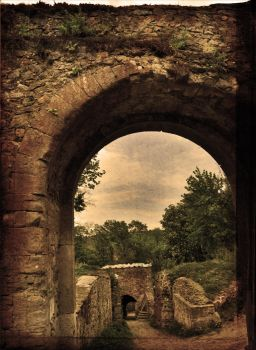 Landscape With Ruins II by GeriAngelo