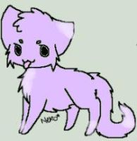 Adoptable Purple and Pink kitty (5 points) by Maddyrox14