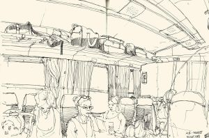 sketches in train 03 by Bonom