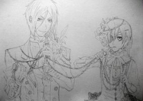 Sebastian and Ciel... Pencil by Emzy-BBS