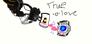 EHMAHGERD GLaDOS x WHEATLEY IS SO KAWAII DESU!!!11 by Sheppins