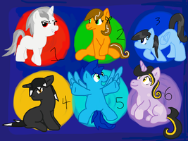 My little Pony: Friendship is Magic Adoptables by Icytherabbit1