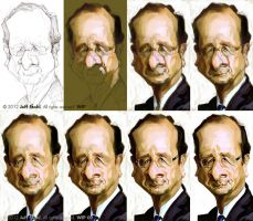 WIP of Francois Hollande, by Jeff Stahl by JeffStahl