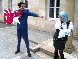 Duo Ace Attorney by yonkomacosplay